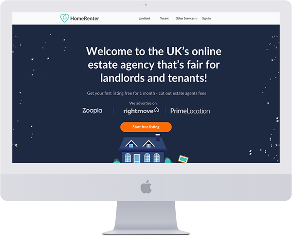 homerenter homepage desktop version