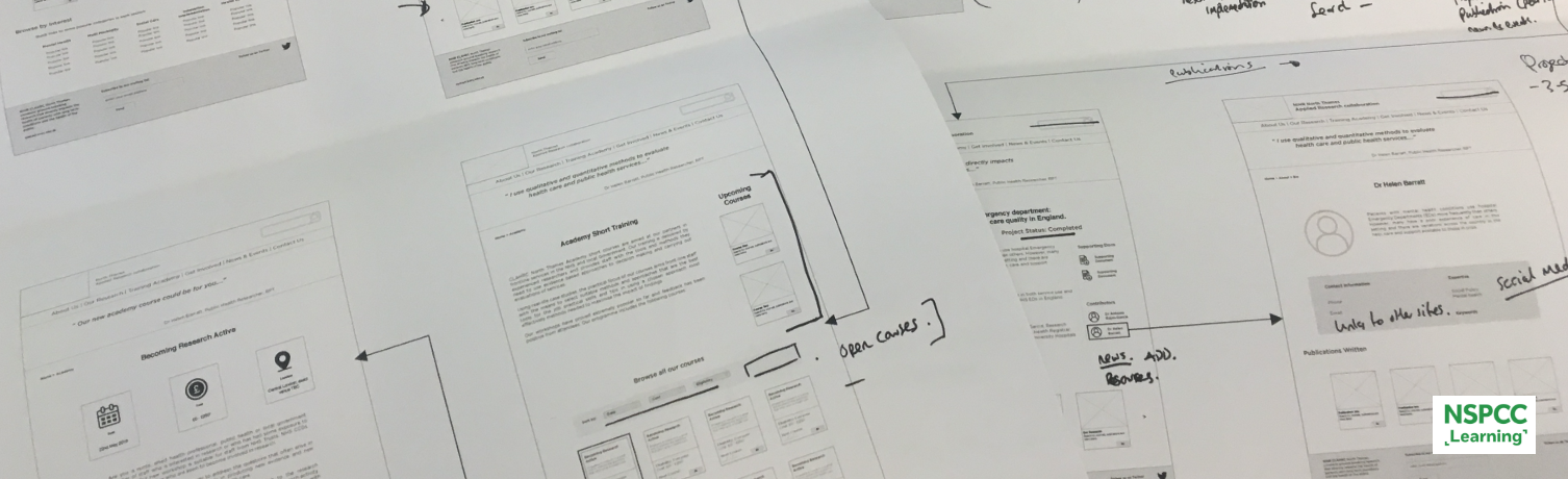 low fidelity wireframe iterations